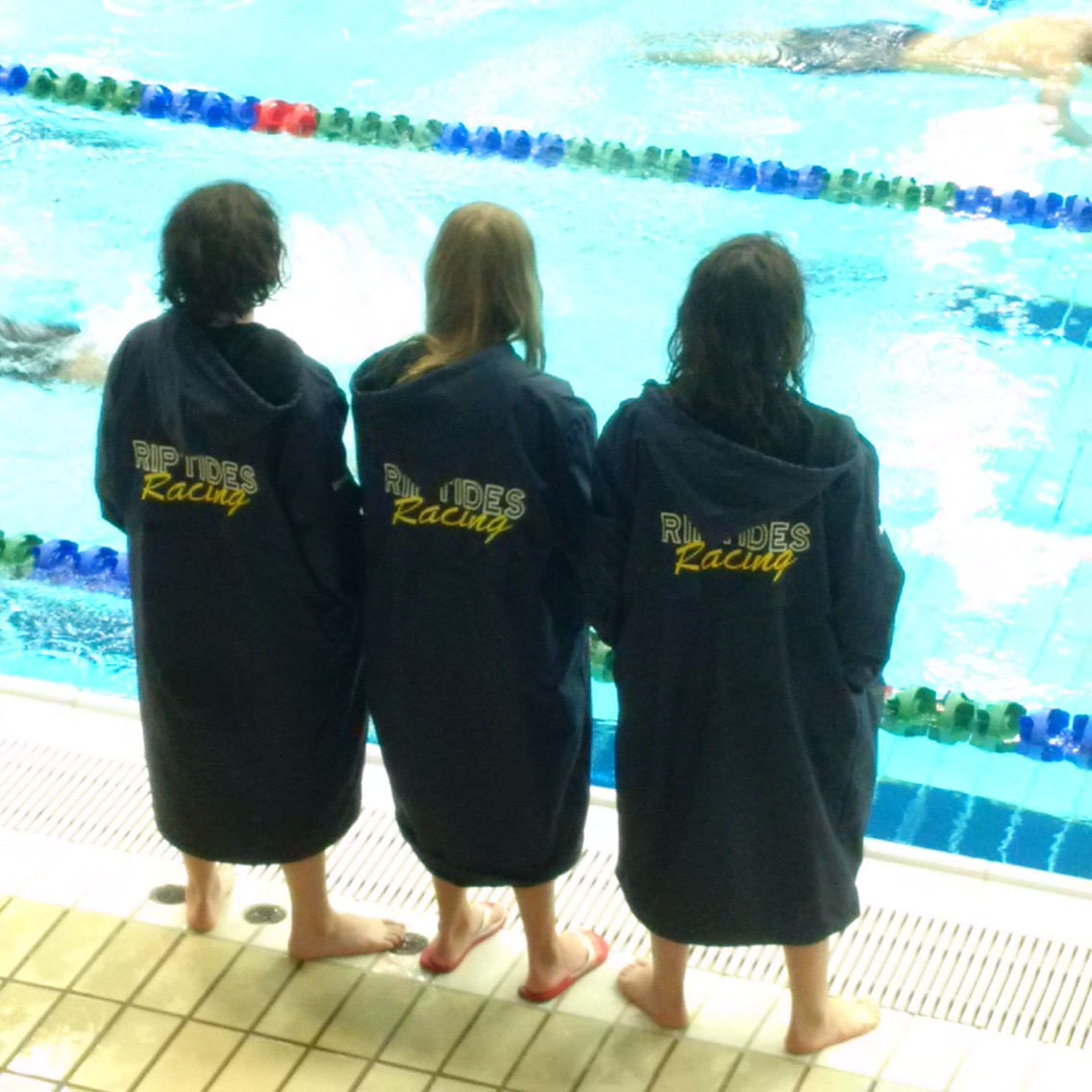 Adult Team Aquatics embroidered Swim Parka - NAVY