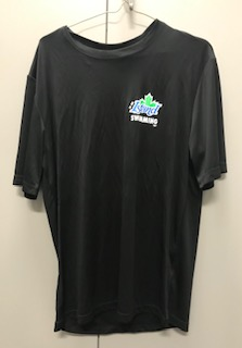 Black Island Swimming Dri Fit T-shirt with colour logo